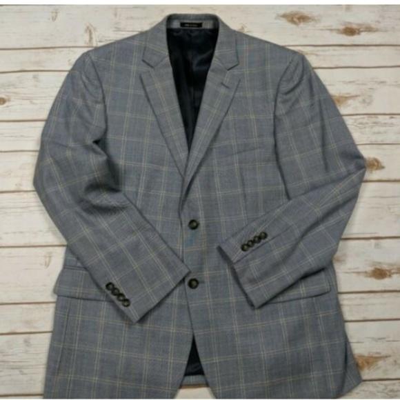 Pronto Uomo Other - Pronto Uomo Platinum Plaid Wool Blend Sport Coat